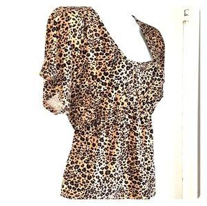 🍂3/$20 Style & CO. Cheetah print blouse